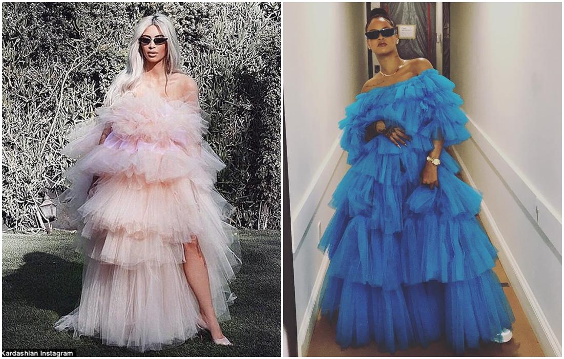 Who Wore It Better Rihanna Vs Kim Kardashian In Tulle