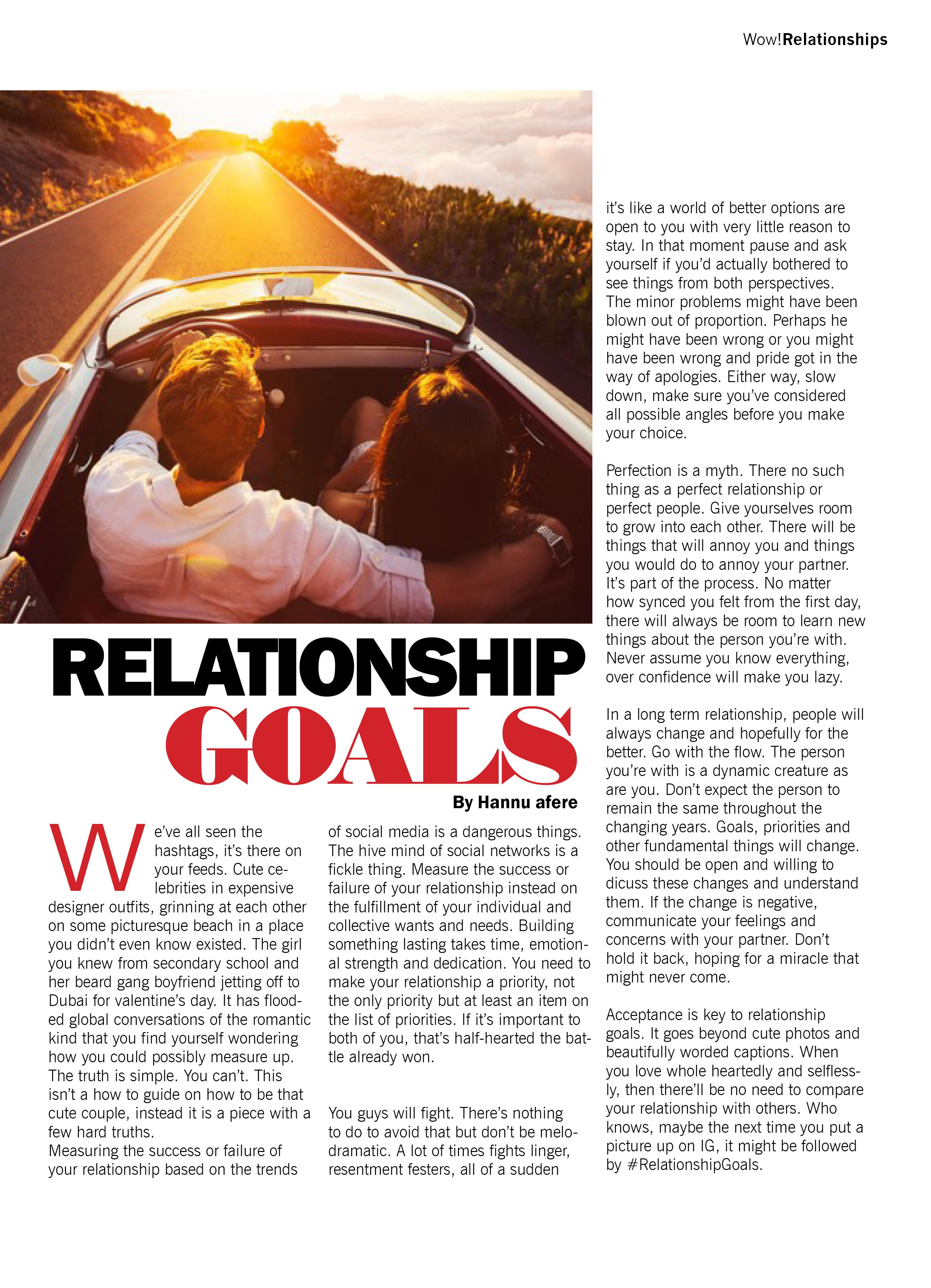 RELATIONSHIPGOALS  - WOW Mag